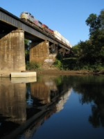NS 220 reflecting in the Chattahoochee River