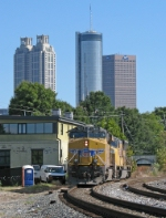 UP 7653 and the Atlanta skyline