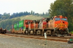 BNSF 4821 creeps past Boeing Field with a southbound intermodal