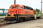 BNSF 1512 is not the rare bird in this photo. Take a good look at the reporting marks on top of the caboose (FW&D)