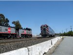 Caltrain 434 meets the Work train