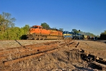 BNSF 5778 leads KCS train G-DQBN-29