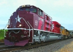 Southbound Intermodal Train With the Brand New MKT Heritage Locomotive