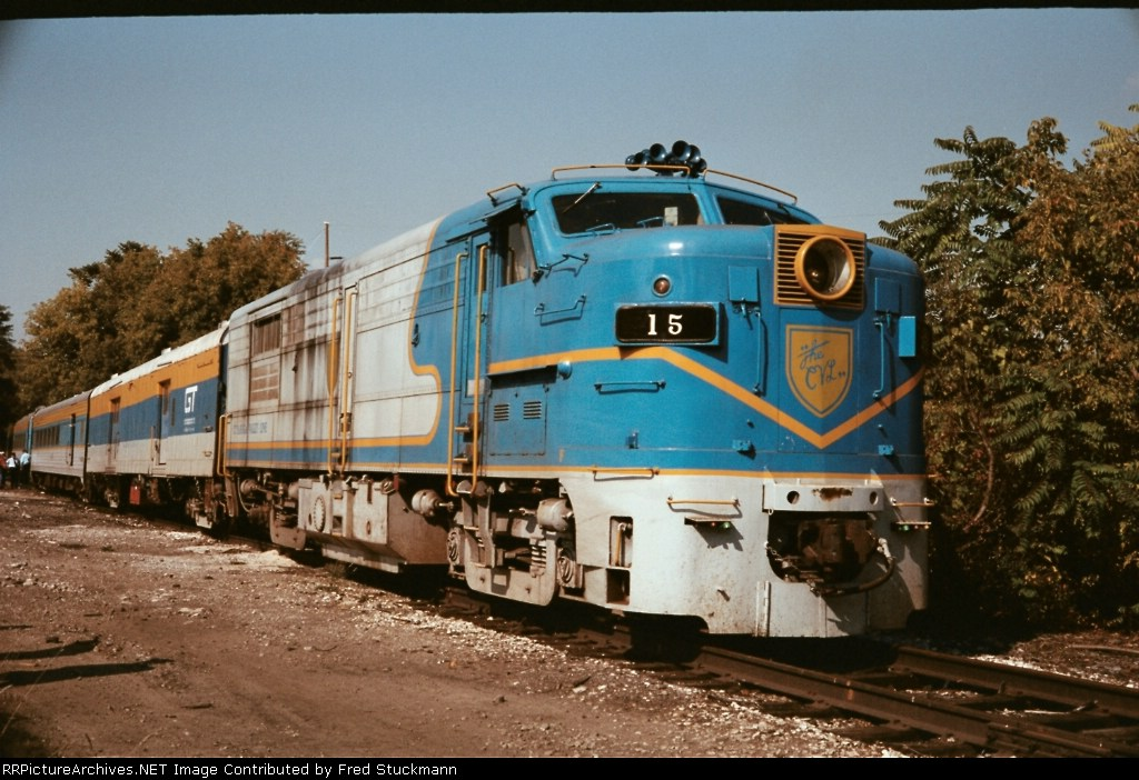 Cuyahoga Valley Line logo on the nose of this unit speaks of an early time in the operation of this fine tourist line.