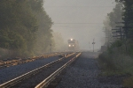NS 13T eastbound in the late evening haze