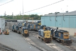 A variety of CSX power outside the locomotive shops