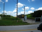 CSXT 4684 leads O808-15 toward the Main Street crossing
