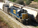 CSX 8047 working 3-Post yard