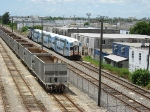 Tri-Rail P666 running about 15 minutes late between the Metrorail transfer station and Opa-locka station