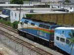 TRCX 805 is today's power on P666, which is running about 15 minutes late between the Metrorail transfer station and Opa-locka station