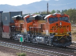 BNSF 6648 and BNSF 6650 move right along pushing a Hot Z westbound towards the City of Los Angeles.