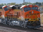 BNSF 6650 and her sister BNSF 6648 head west as rear DPU units on their First Run West.