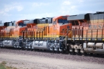 BNSF 6650 and BNSF 6648 roll eastbound on their return trip after completing their First Run West.
