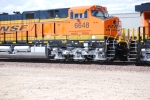 BNSF 6648 and the rear end of BNSF 6650  as they roll into the yard at Barstow.