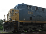CSX 5391 leading Q453 for a meet with the NB Silver Star P092
