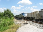 AMTK 55 leads the NB Silver Star P092 for a meet with CSX Q453