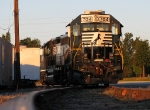 NS 704 sitting at the house track in Douglasville