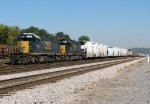 A pair of Yard SD's on a long string of cars at Boyles Yard