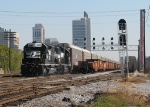 NS 3447 leads 27A past 15th St. with the B'ham Skyline in the background