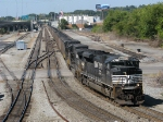 NS 2771 leading a coal train that has been sitting over a day