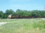 UP 5965 DPU on westbound UP empty coal train