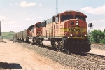 Southbound coal loads roll through wye