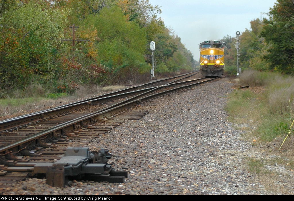 UP 7740 Southbound