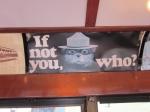 Trolley Ad for Smokey Bear