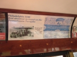 Trolley Ad for Philadelphia 5326 traveling on the PA Turnpike