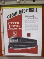 Advertisement for Brill Bullet Streamlined Cars