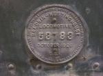 Builder's plate for MVT 3000