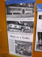 """Newpaper Article about """"Home in a Trolley"""", describing West Penn 739 when it was a home"""