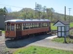 PRT 5326 passes the Allison Trolley Shelter