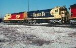 ATSF F45 5954 and C30-7 8074