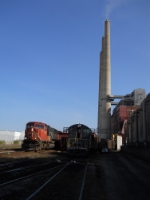 CN train passes the power plant switcher
