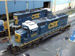 CSXT EMD SD40-2's 8305 & 8452