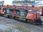 CN EMD SD75I's 5715 & 5683