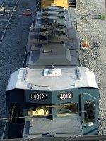 CSXT EMD SD40-3 4012