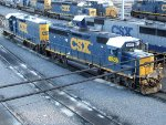 CSXT EMD GP40-2 6985 with EMD Road Slug 2385