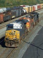 CSXT 5277, BNSF 5235, & CSXT 4721