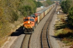 BNSF 5751 - 9993, GE ES44AC, EMD SD70MAC work coal empties westbound