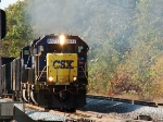 CSX SD60 #8577 excelerates hard from a dead stop @ Willow Creek Ind.