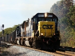 Mty hoppers EB with SD60 8577 @ Willow Creek Ind.