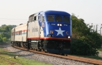 RNCX 1797 leads train 73, the Piedmont, westbound in the morning