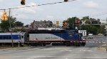 RNCX 1893 leads train 74 across Fayetteville Street