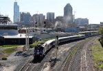 RNCX 1871 leads train P075-28 away from Union Station