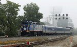 RNCX 1893 leads train 73 southbound at Aycock in the fog