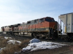 BNSF 964 Assists on a Manifest Train