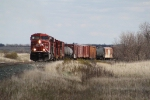 Mixed Freight Pushes up the Grade Toward Bowbells