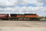 BNSF 1030 is a Grain Train DPU